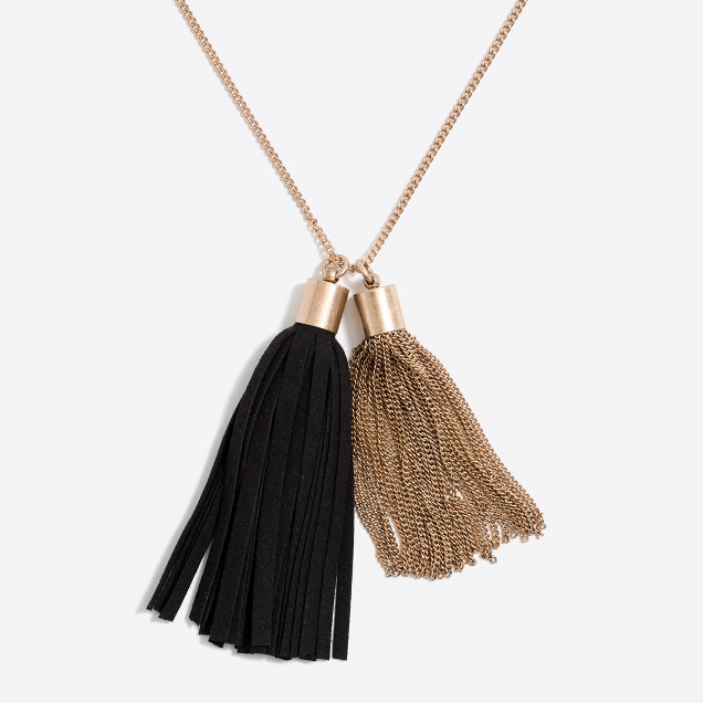 Multi Tassel Pendant Necklace from J.Crew