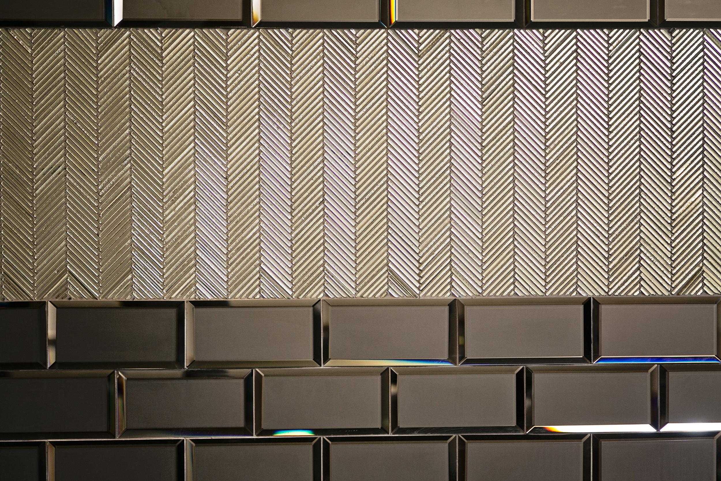 glam tile detail_ custom home theater
