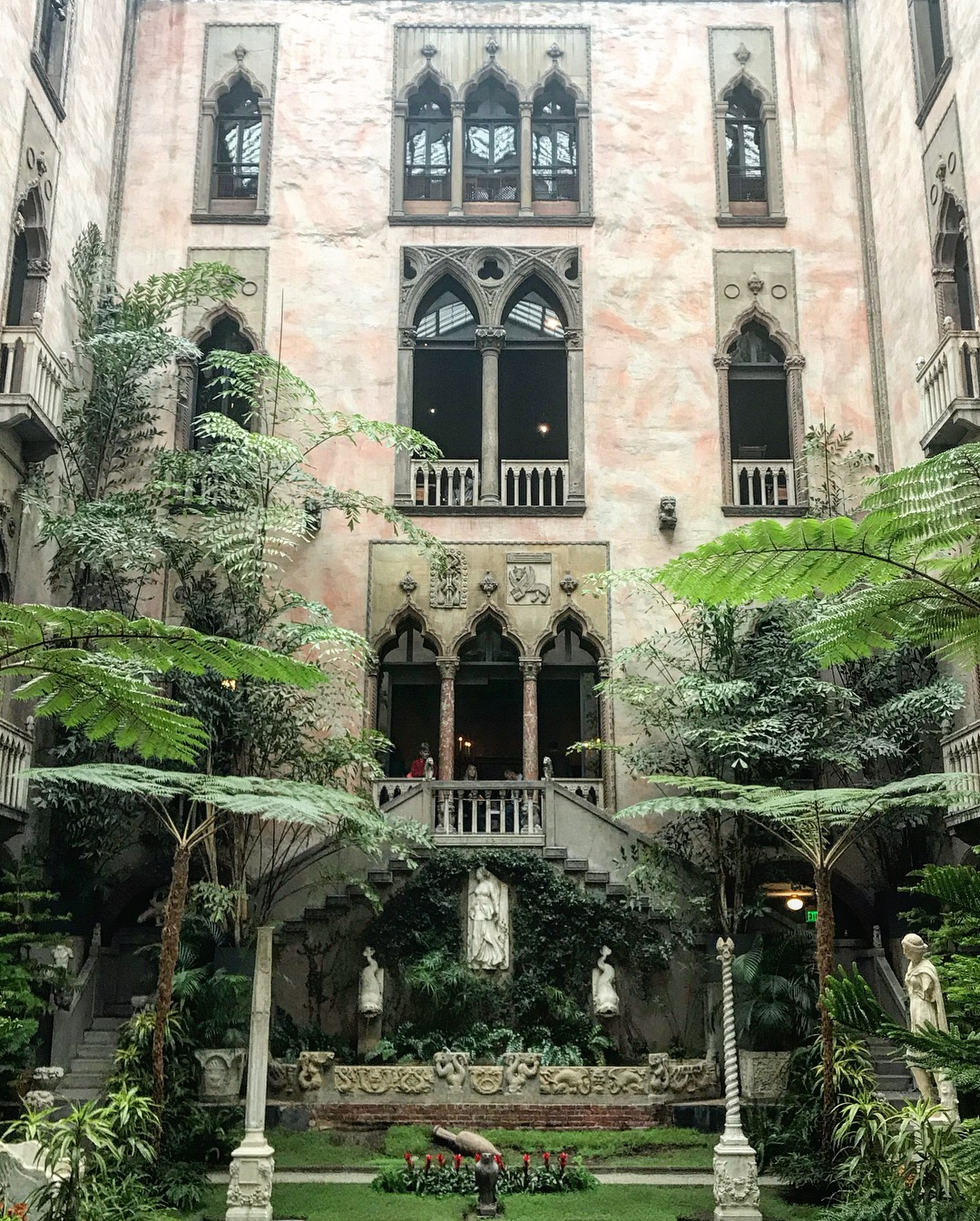 Isabella Stewart Gardner interior Venetian inspired arboretum and courtyard, LGD Team (Crystina Castiglione Photography).