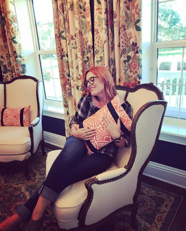 Antique Parisian chairs & pattern = Designers happy place