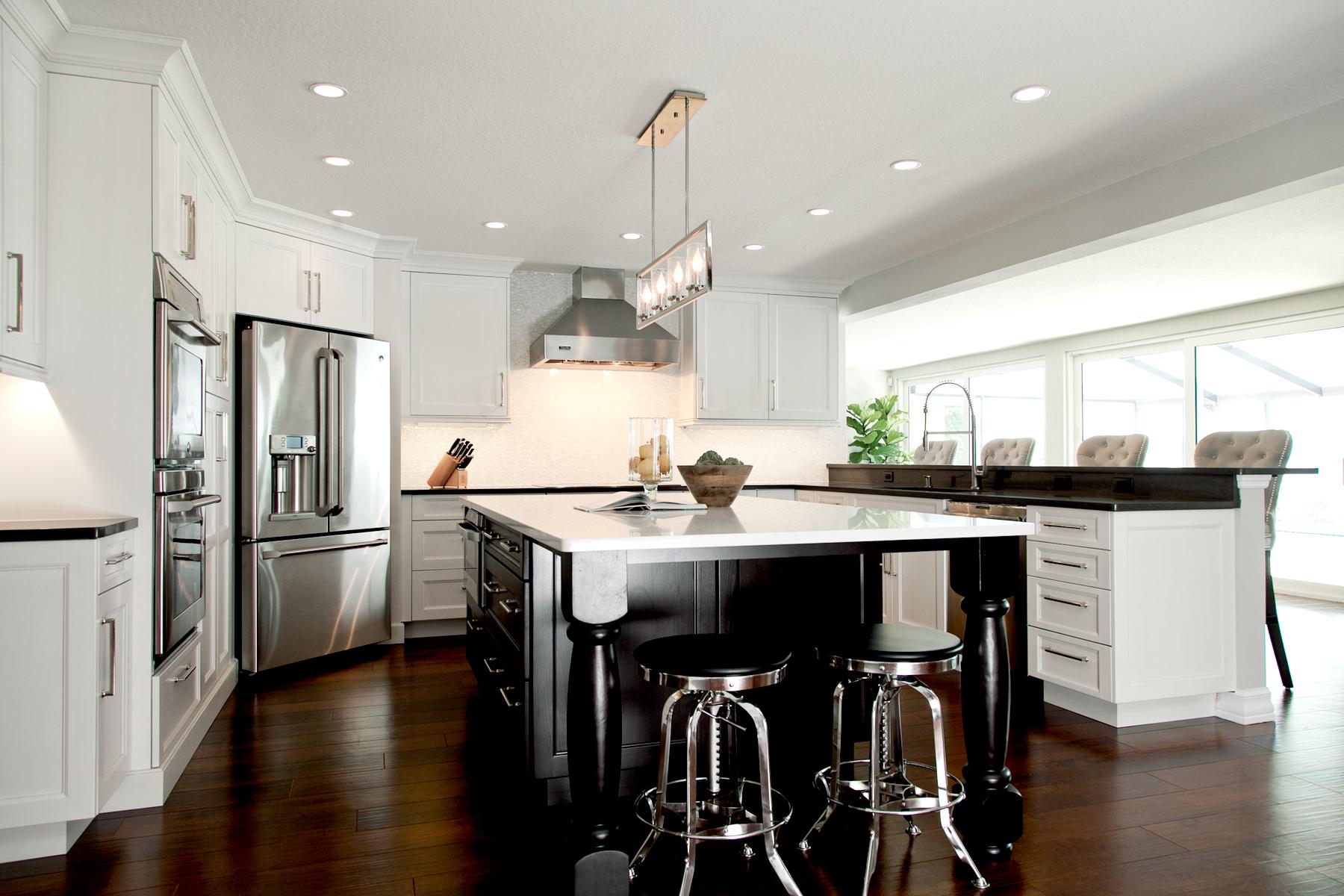 Dark flooring in kitchen_ luxury vinyl tile_wood