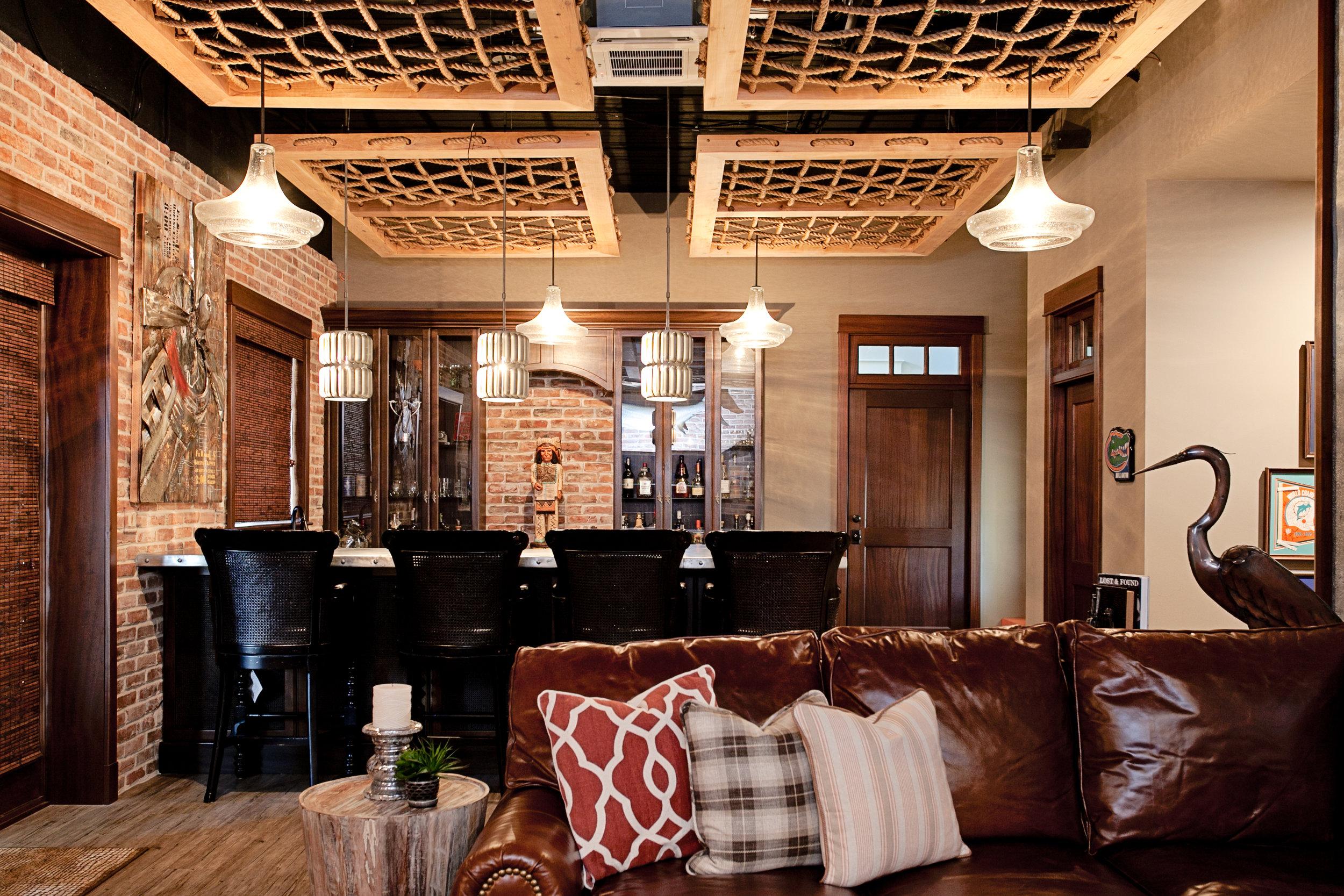 distressed faux wood_luxury vinyl tile_residential mancave