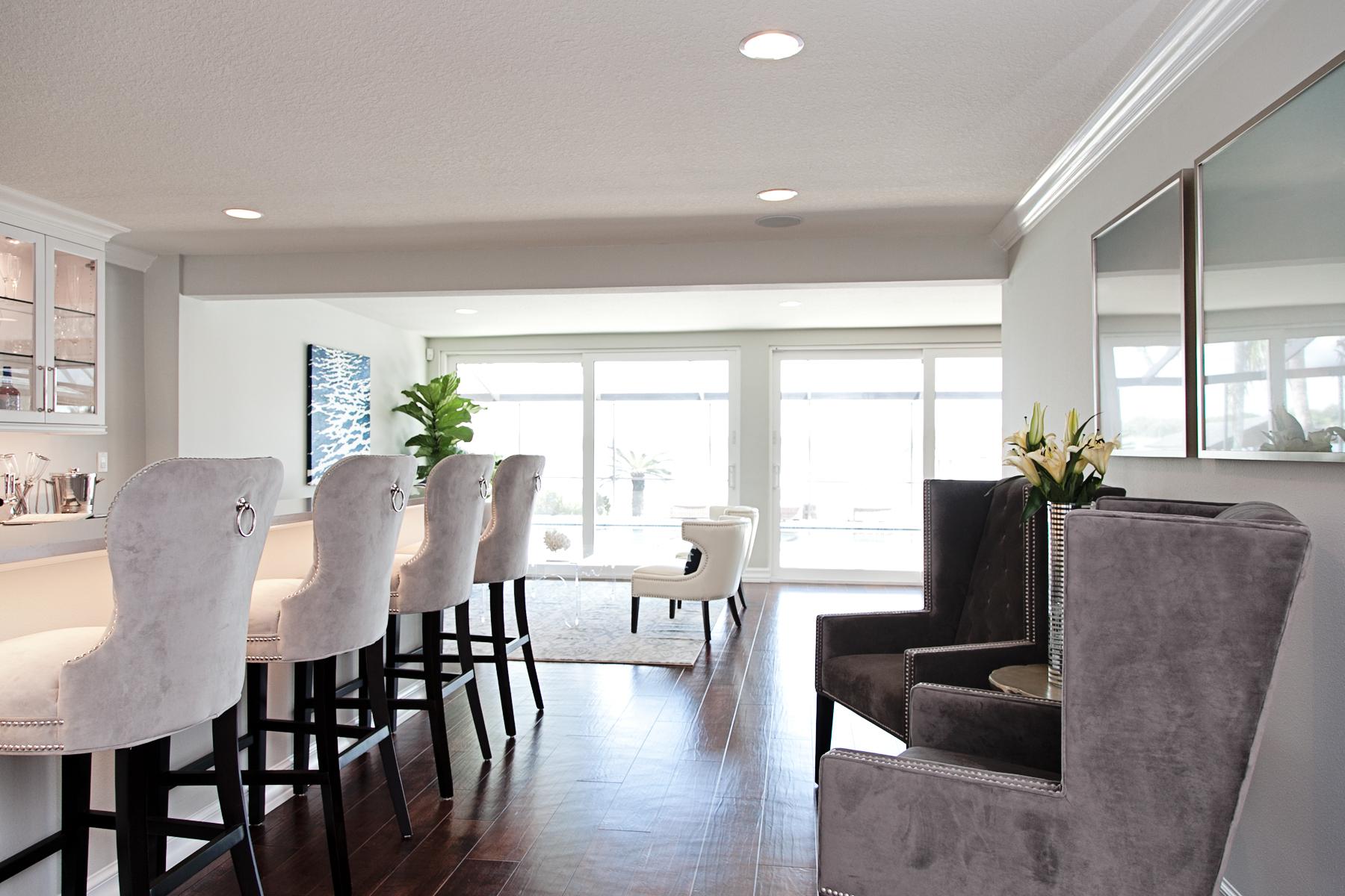 dark faux wood_handscraped_luxury vinyl tile_ residential home bar