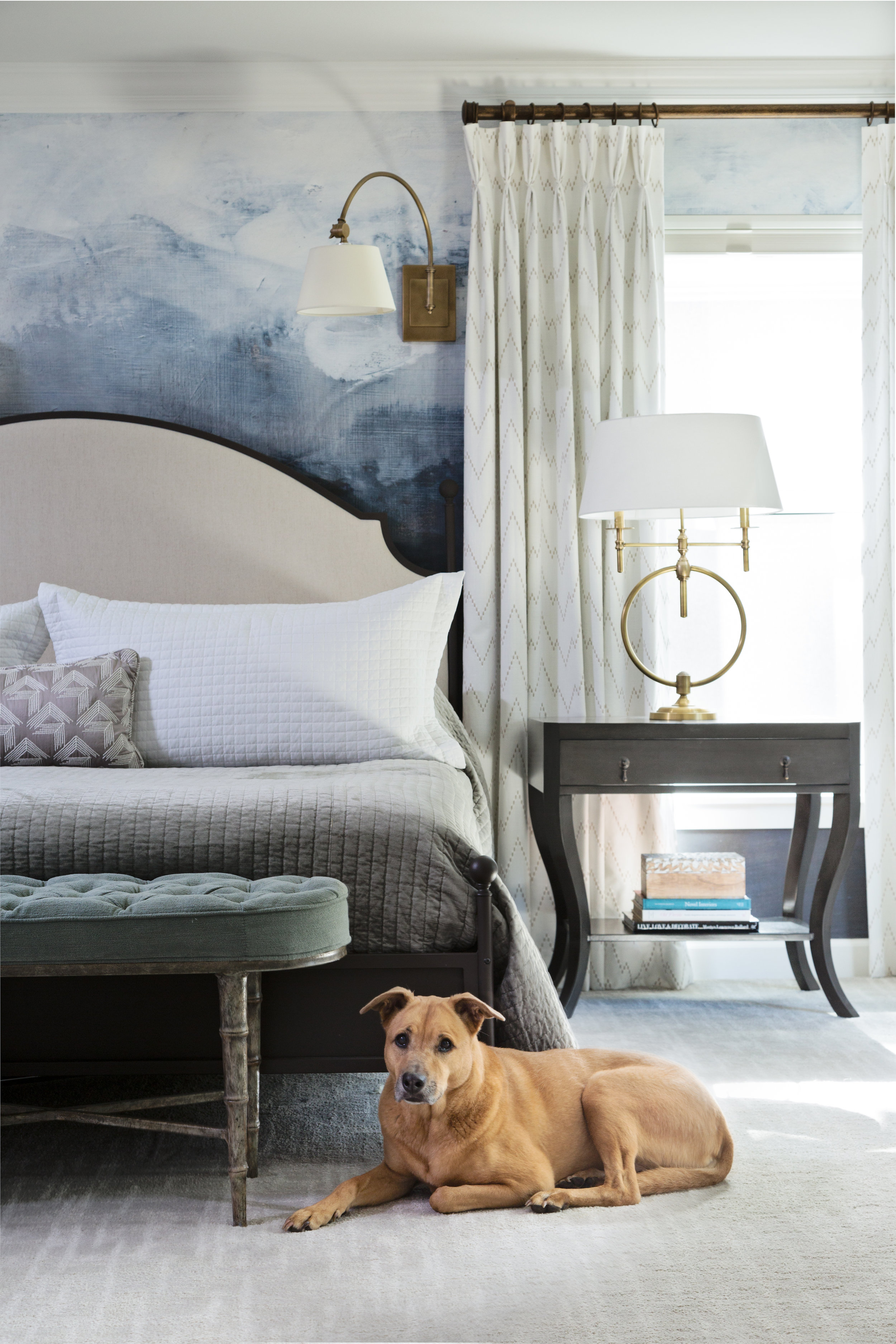 Room Views with a special guest- Master Bedroom by Lisa Gilmore Design
