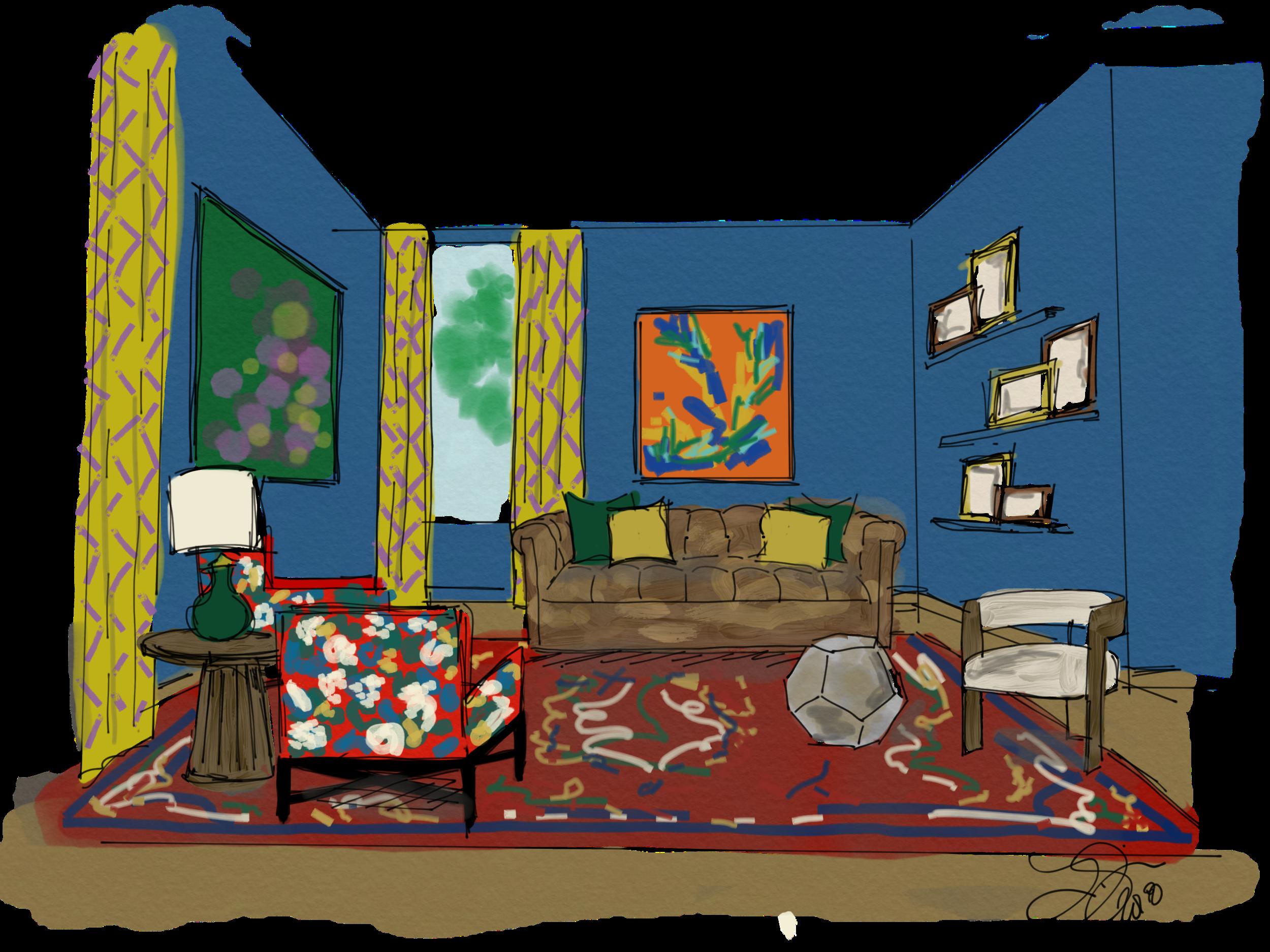 colorful law office_interior design