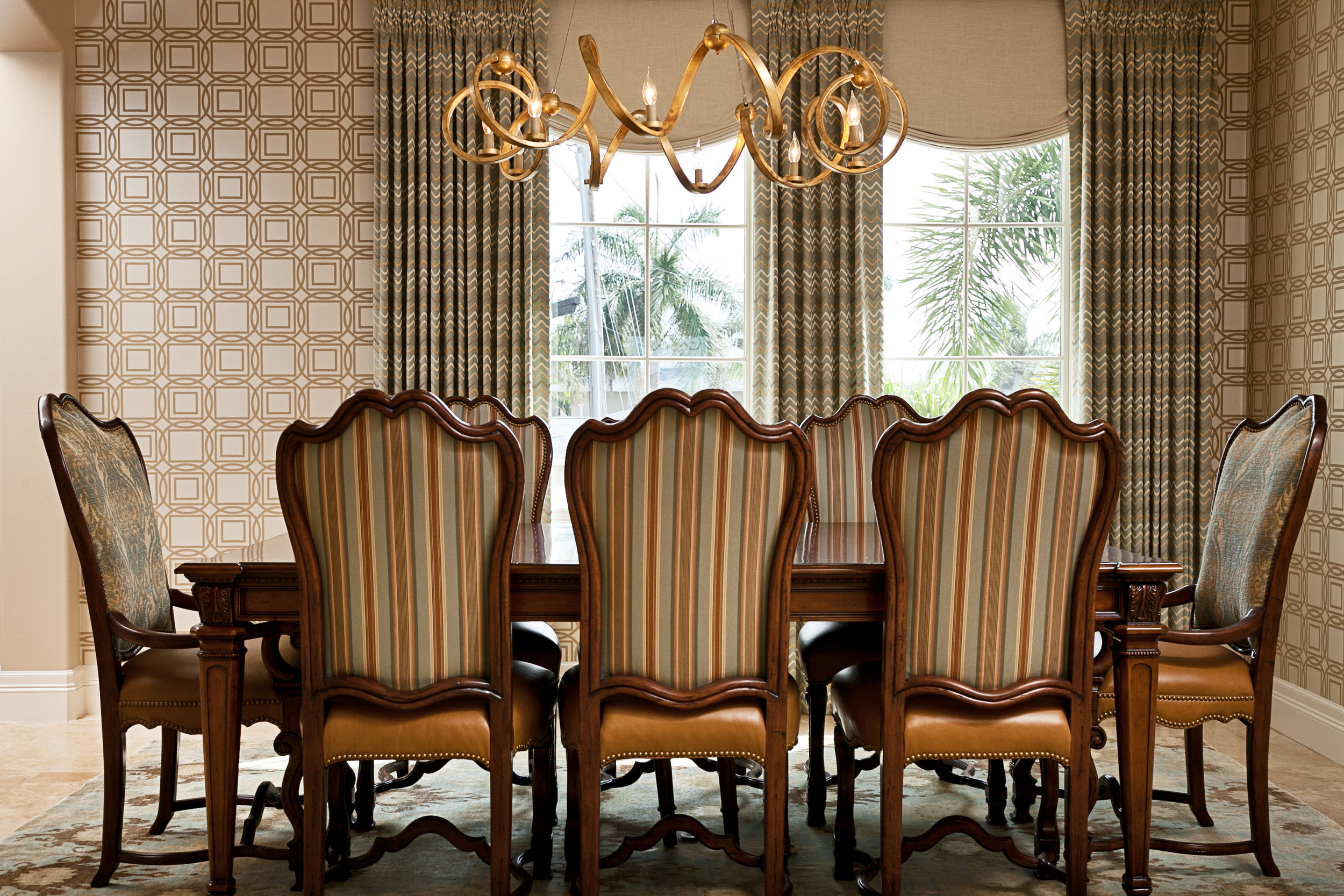transitional dining room interior design