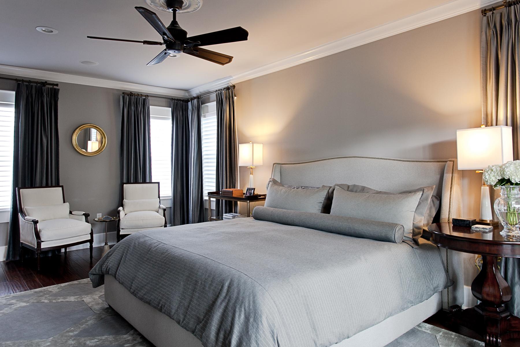 monochromatic master bedroom interior design