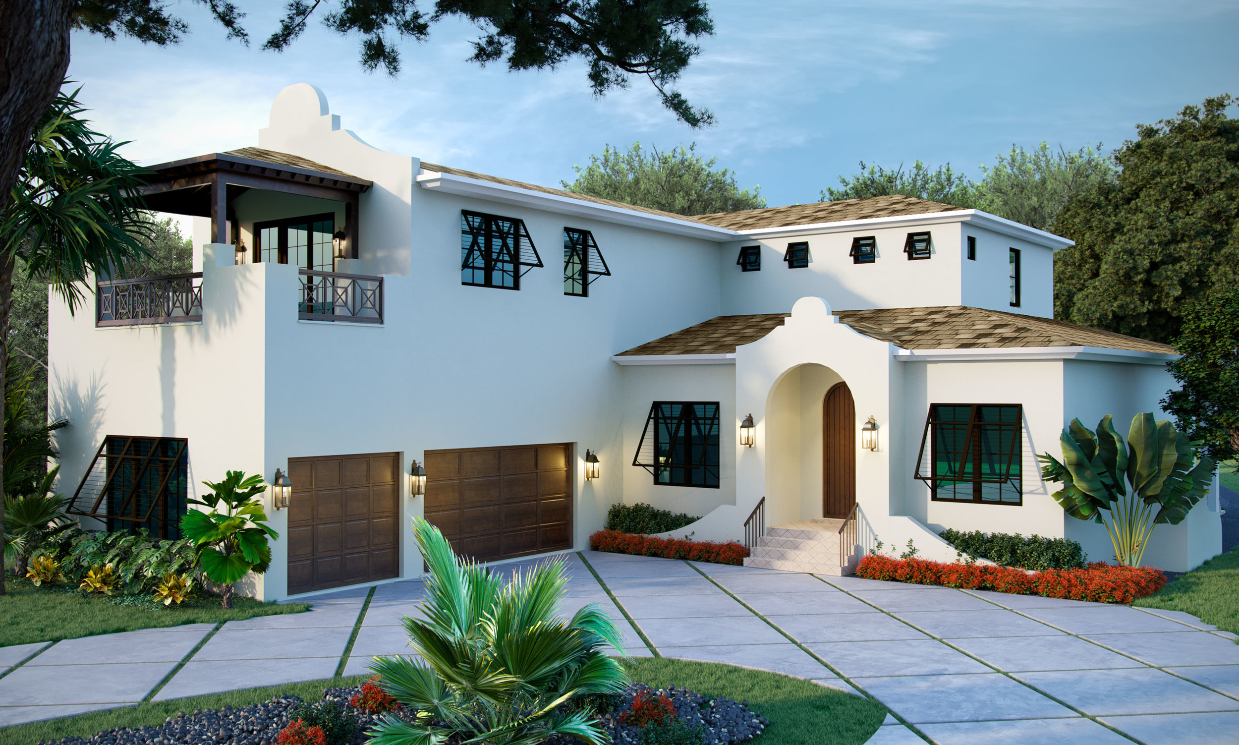 Rendering of Cape Dutch custom home by ClearPH