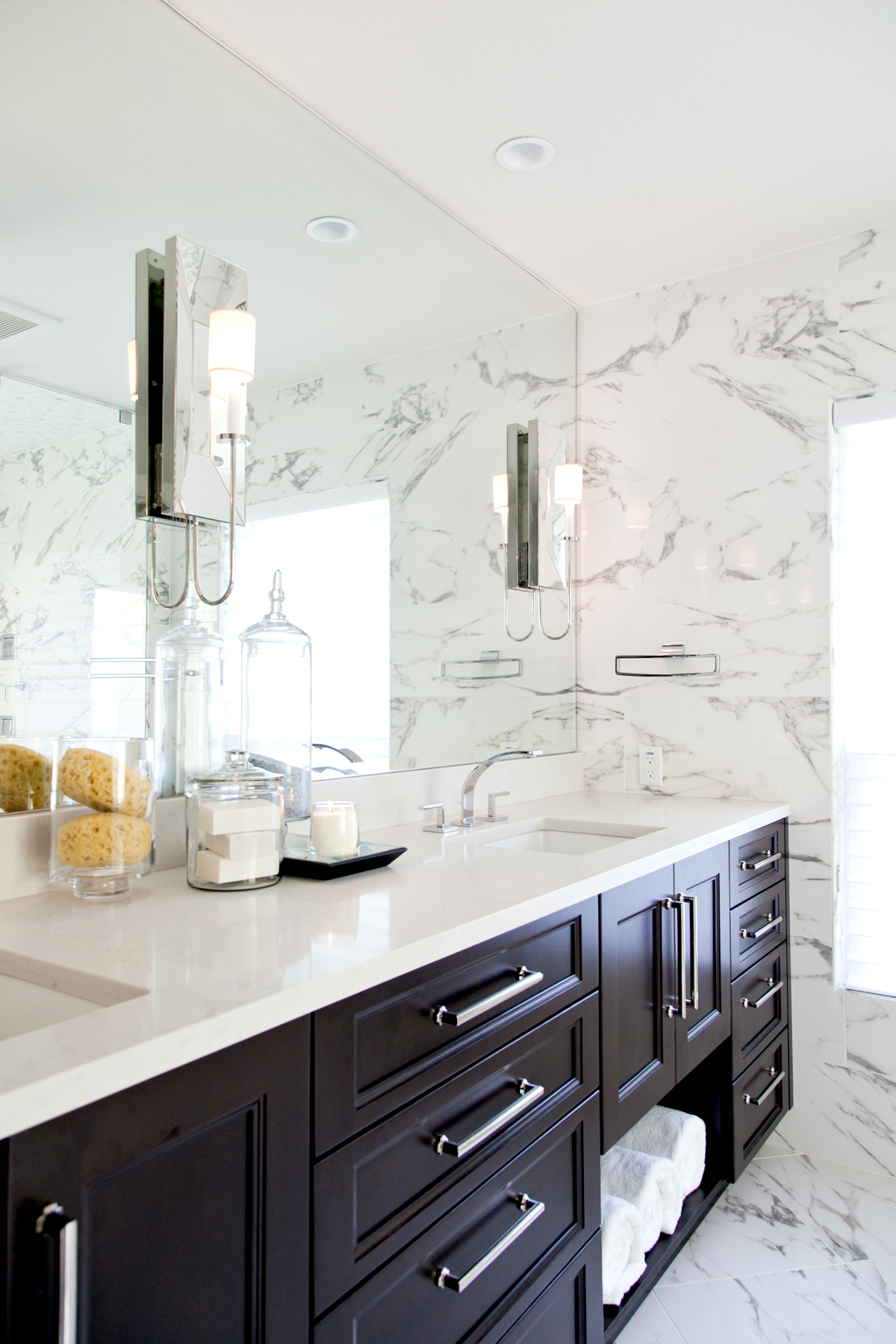 Modern Master Bathroom by Lisa Gilmore Design | Image by: Native House Photography