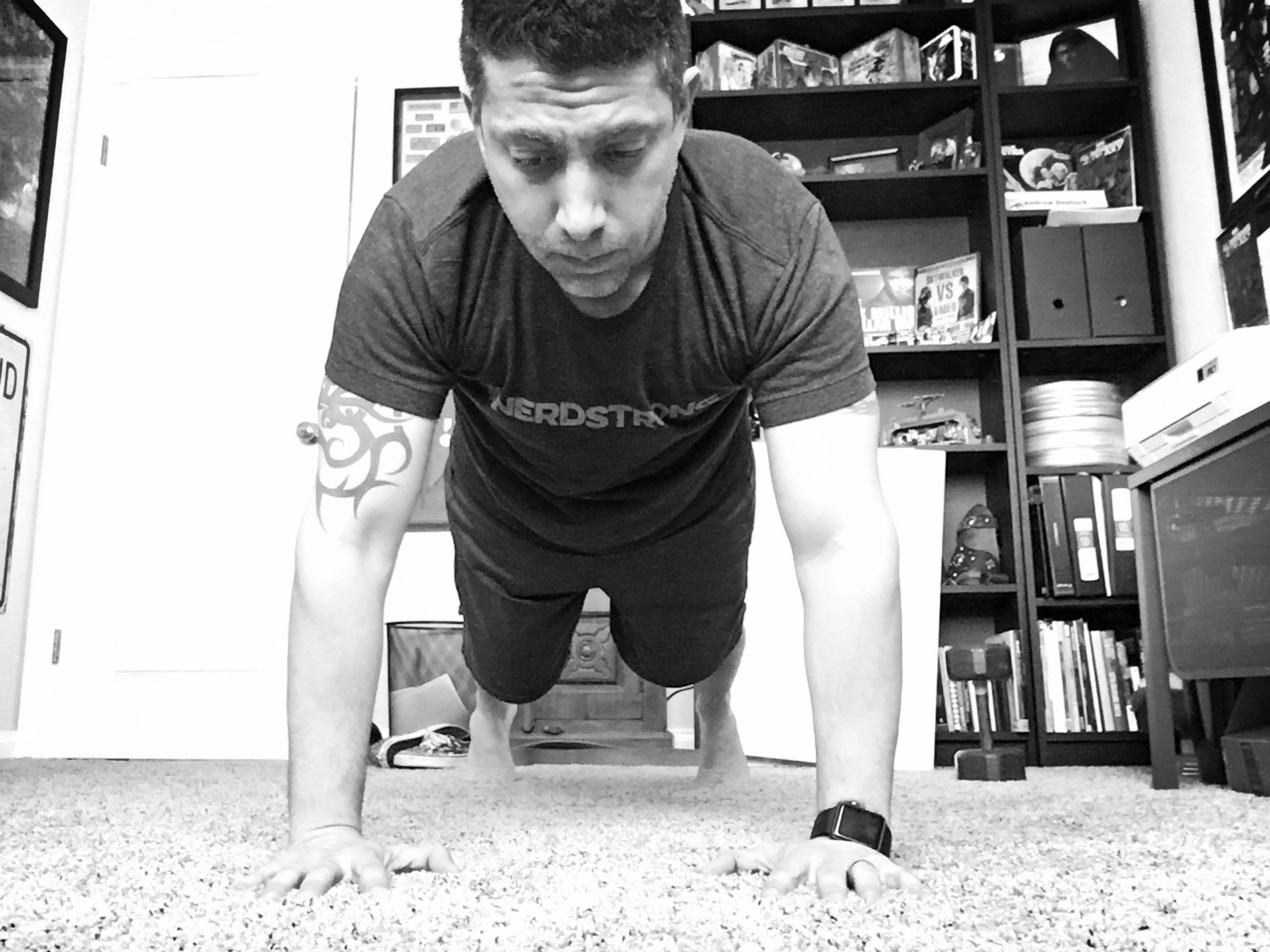 Plank position should be solid.
