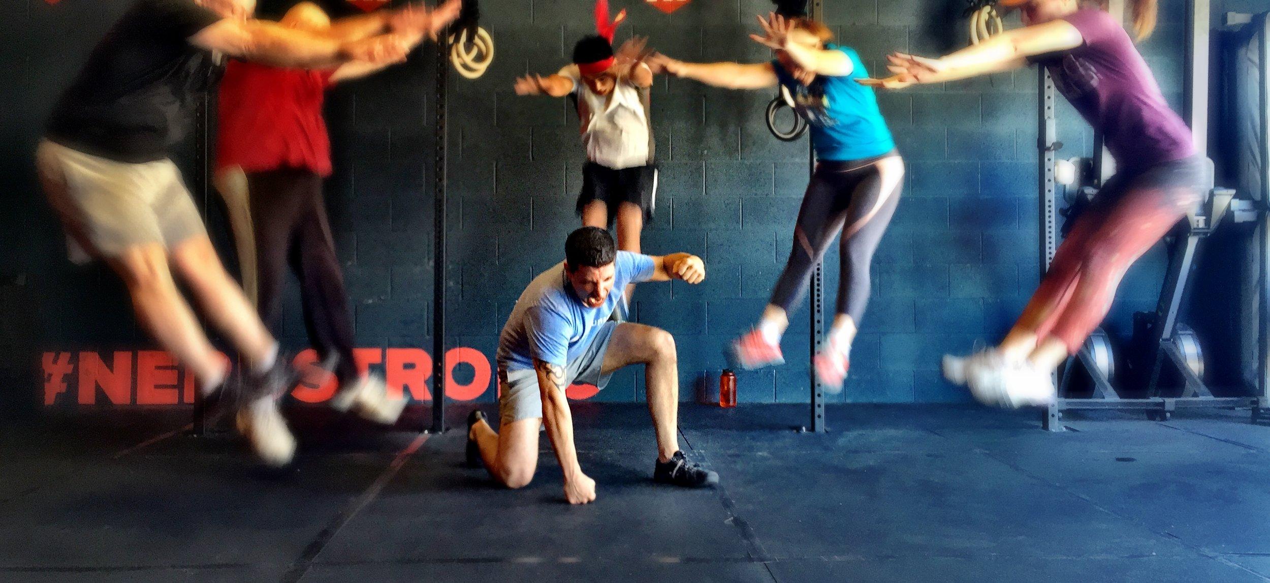 Nerdstrong Gym Superhero landing
