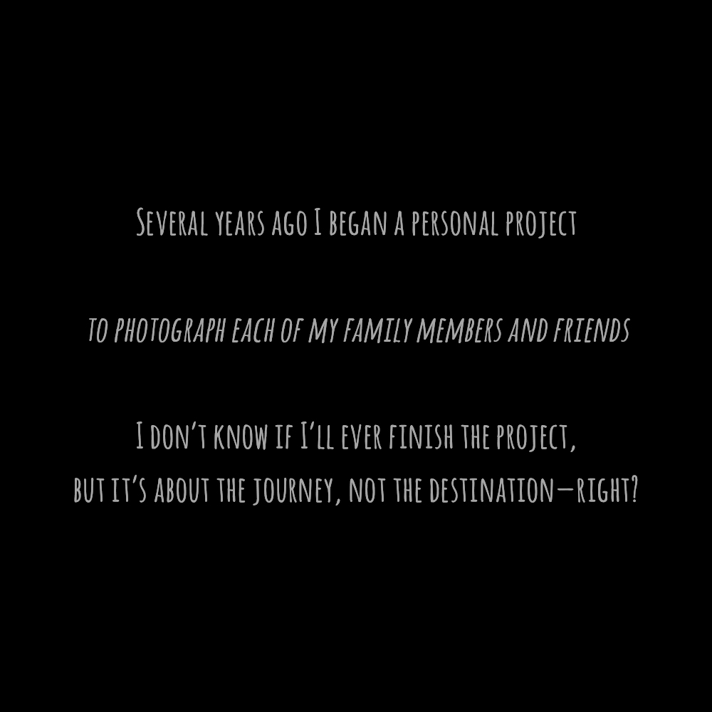 Friends & Family Project Intro