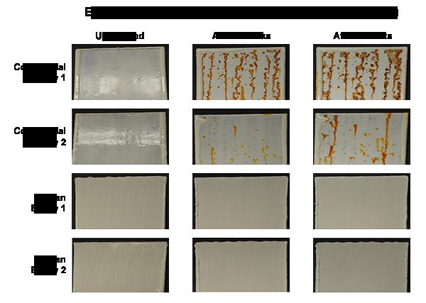 Normal   0           false   false   false     EN-US   X-NONE   X-NONE                                  MicrosoftInternetExplorer4                                            Comparison of metal plates exposed for 1000 hours to a salt fog.