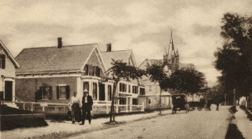 The Museum building in the late 19th century, looking east.