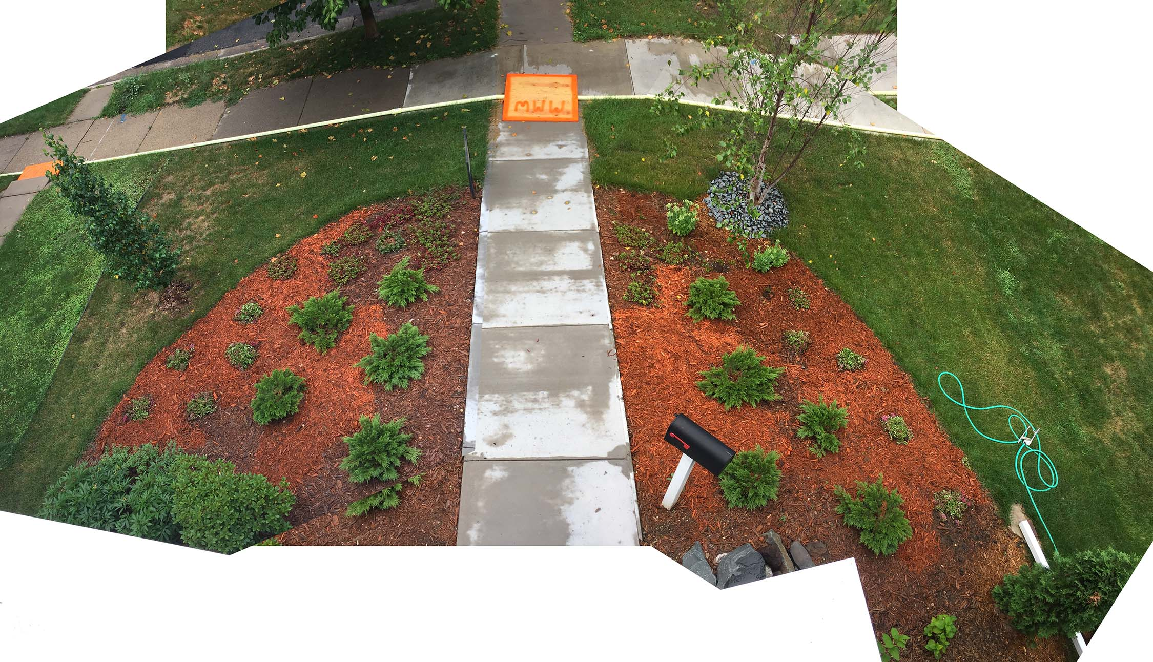 A lesson I can't seem to learn: Always get more mulch than you think you'll need. Maybe then it will be enough.