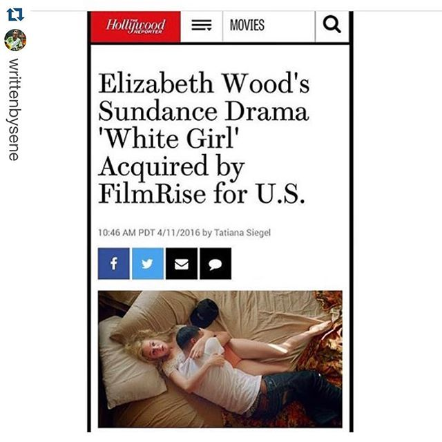 A big CONGRATULATIONS to our boy, @writtenbysene!!! We can't wait to see White Girl #moviestar #film #whitegirlmovie