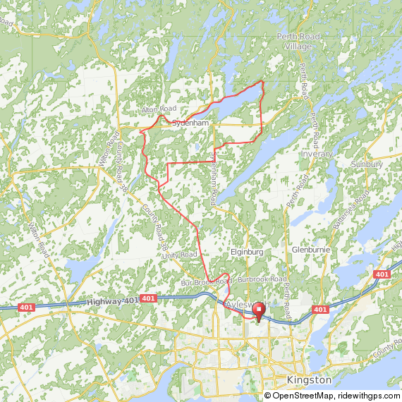 65km K&P Trail w_ Loop to East End of Sydenham Lake.png