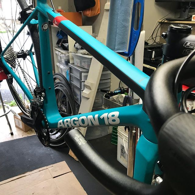Last new bike build at 42 Queen St in progress.