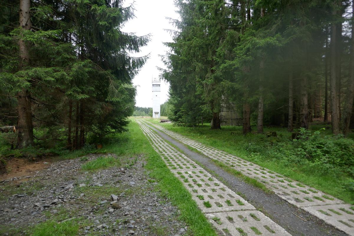Der weg zum Grenzstreifen