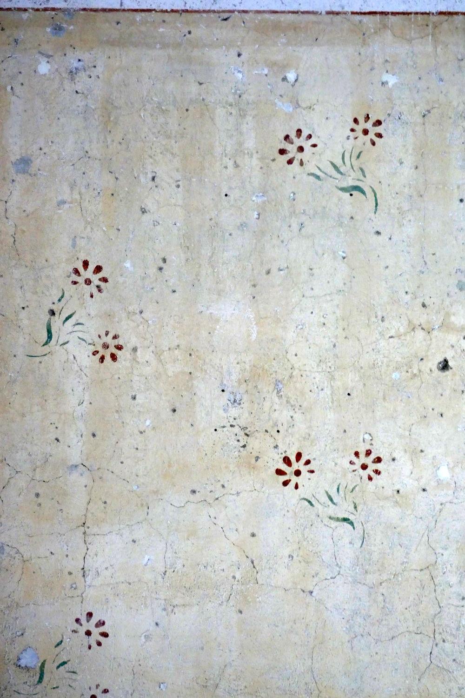 Deteil des Wandbemalung für den Aufseher
