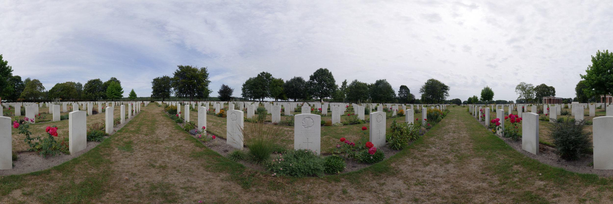 Der kanadische Soldatenfriedhof bei Nijmwegen