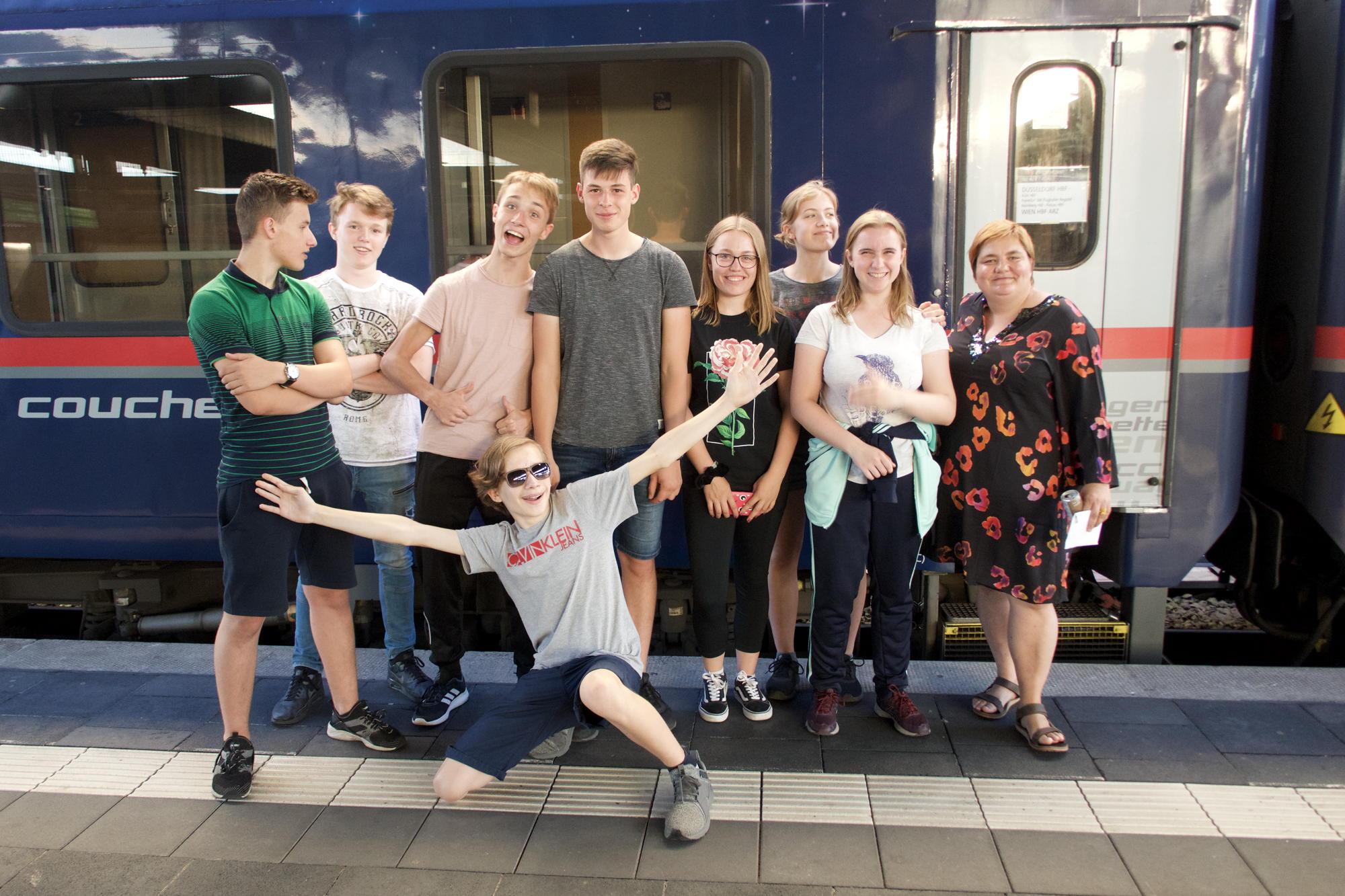 Eine unverbrauchte Reisegruppe