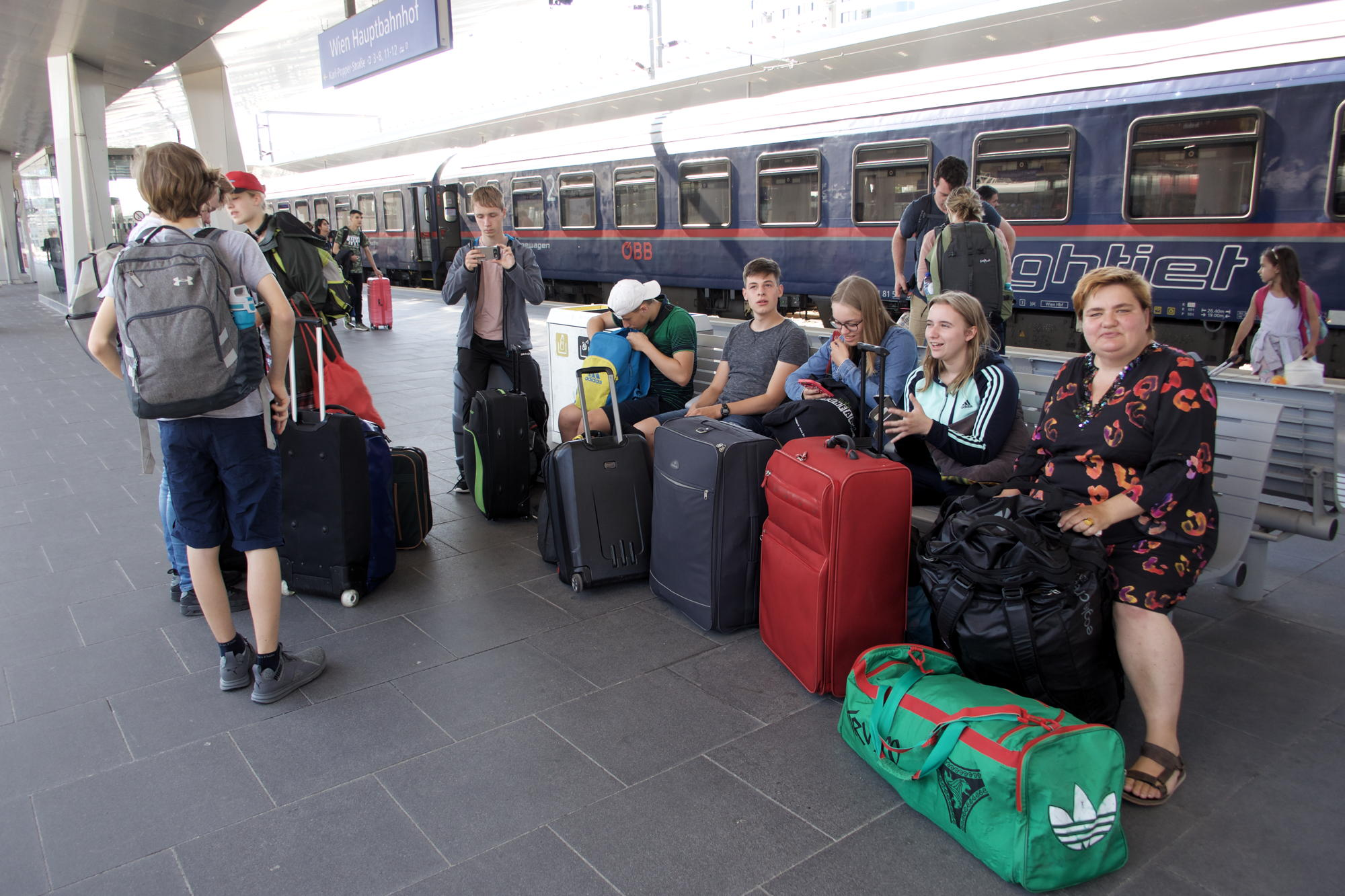 Umsteigen in Wien: fast wie neu, teilweise noch im Schlafanzug…