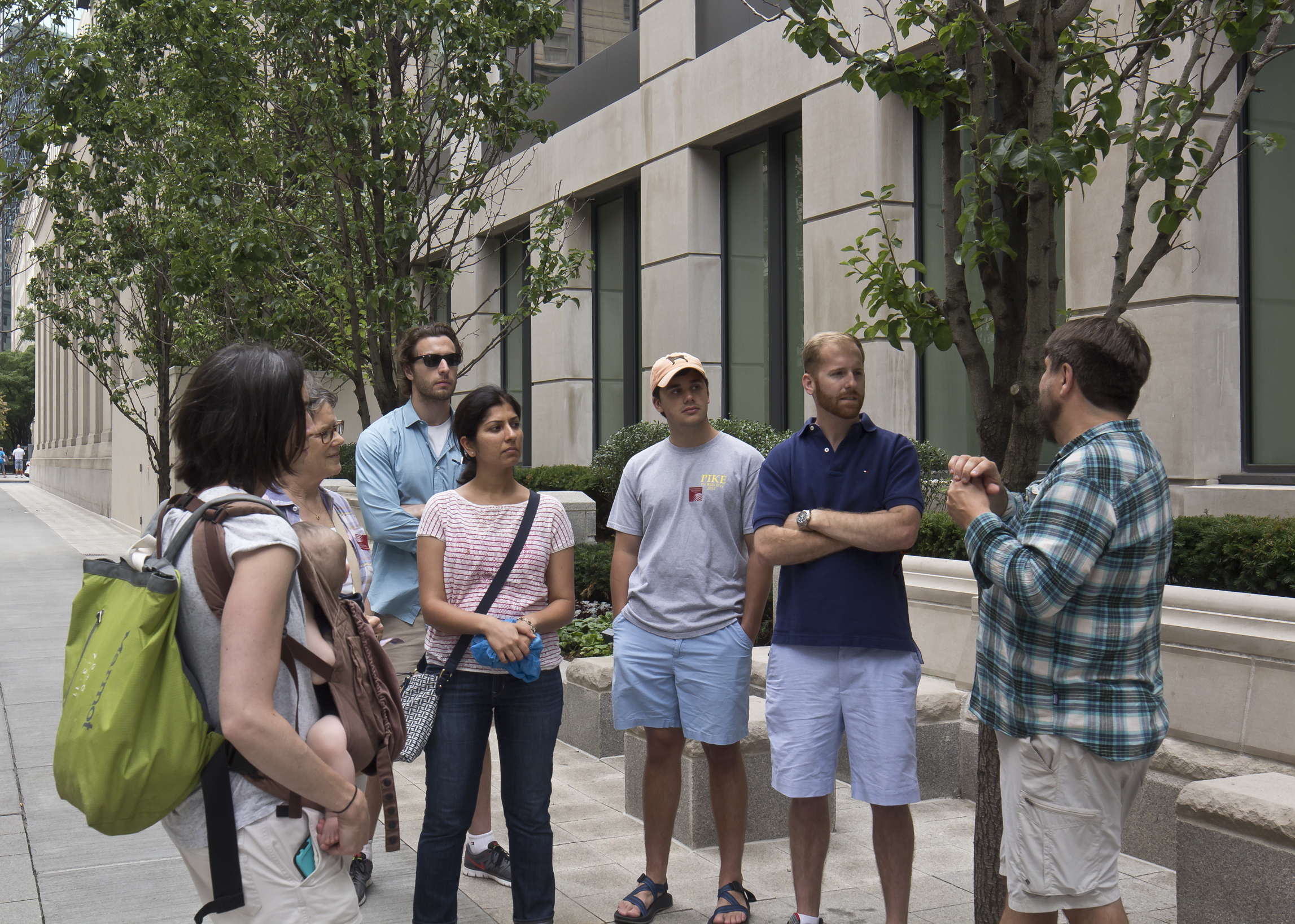 Chris explains features of a recently completed project downtown