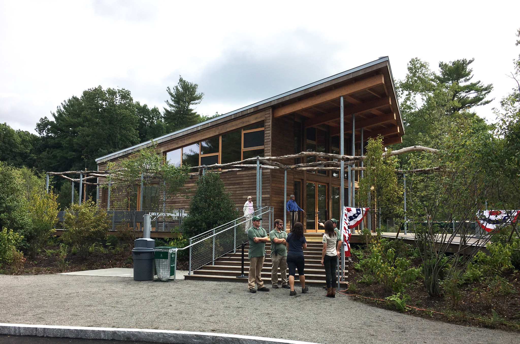 The LEED Gold Walden Pond Visitor Center, Concord, MA.