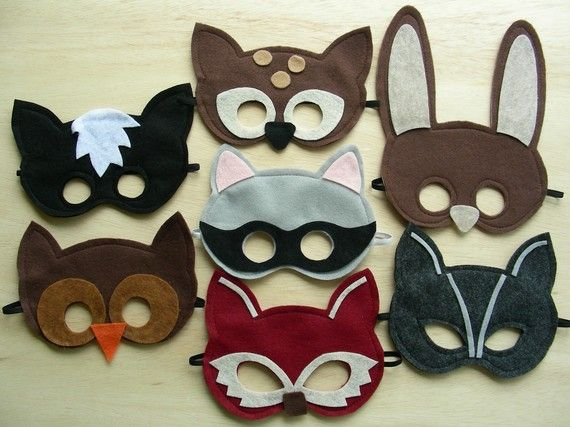 These  Woodland Animal Masks from Etsy come in a pack of 7!Perfect for your child's birthday party as favors or if you have multiple kids.It is also good for options depending on your little ones favorite animal that day... if your little ones are like mine who's favorite animal changes daily.