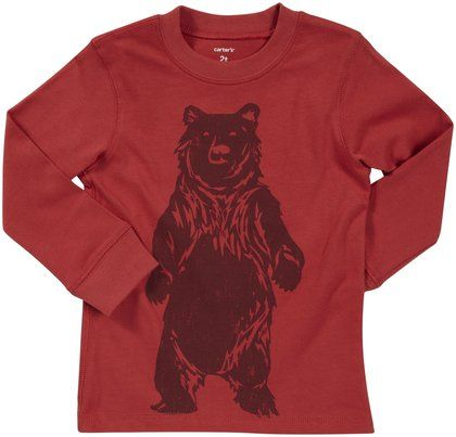 """This  Carters Oversize Bear Graphic Tee  is a Cool & Affordable option that is just as cute for a Girl as it is for a Boy. My favorite part of this Oversize Bear Graphic Tee is that it also has a Graphic on the back with Two Bear Paw Prints that says """"Cool Camper"""", making this an officially """"Cool"""" Tee!"""
