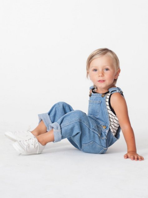 I also love these  American Apparel Overalls  in a Medium Stone Wash… Very Vintage Cool. And again these Overalls are worn with a Stripe T-Shirt. These Overalls are UniSex… Though aren't all good Overalls UniSex?