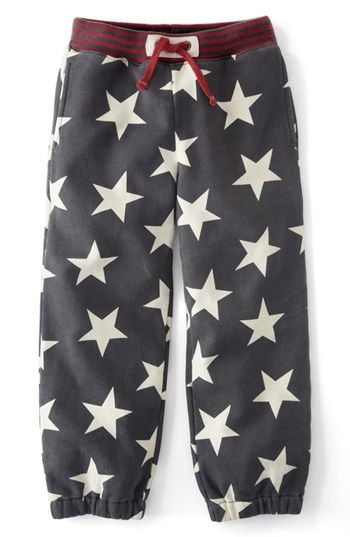 These Boden track pants are made from substantial sweatshirt-weight jersey and are built for comfort. They also come in two different color options, but I love this shadow color with red stripe rib and white stars- these are the perfect pair of Team U.S.A. Allover Star Printed Sweatpants for your Little Champion!