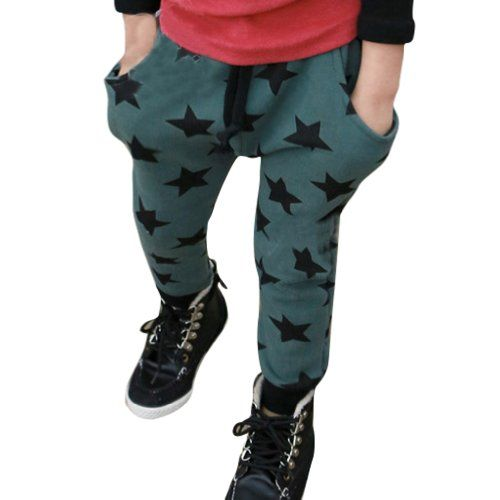 I Love these Little Hand Boys  Stars Harem Trousers for several reasons: they are only $11.99, they can be Unisex and would be just as cute on a girl as on a boy, they are cool Slouchy Sweatpants, & they have an Allover Star Print. I love these so much I ordered a pair for my Little One!