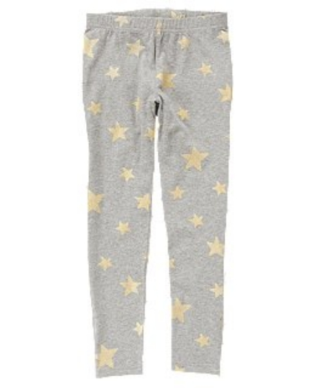 These Girls' Crazy8  Star Leggings will add a layer of style to your daughters favorite outfit with a sweet, shimmery Allover Star Print. She will Feel as though she has won the Gold in these Allover Star Printed Leggings, and you will too because they are only $4.99!