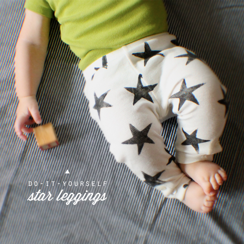 Little Frills has instructions for  Do-It-Yourself Star Leggings .I Love these instructions because they include how to use a Potato as the stamp, which is something I did when I was a kid! There are only a few super simple steps to follow and you too will soon have some fashionable Star Printed Leggings for your Little One!
