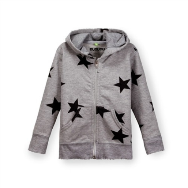 This Nununu  Star Zip Hoodie is Unisex and comes in 4 different colors for infants and for kids. It features deconstructed hems for a worn-in, modern look, and is the perfect Allover Printed Star Hoodie with a combination of Attitude, Style, and Humor! The color combination of this Hoodie is the same as the the colors used by Nike for the capsule they created for the American Olympic Team.