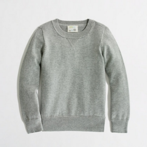 I really Love this  J.Crew Factory Boys' Cotton Sweatshirt Sweater , and this is the one I am thinking of getting Mario. Because it is a sweater, he will look really cute all dressed up wearing it, but it is also still casual enough to throw on over his PJ's for a cozy day at home!