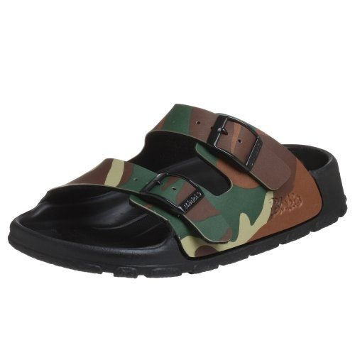 This  Birki's Haiti Open Back Sandal  is super cool and trendy with Camouflage Print upper!