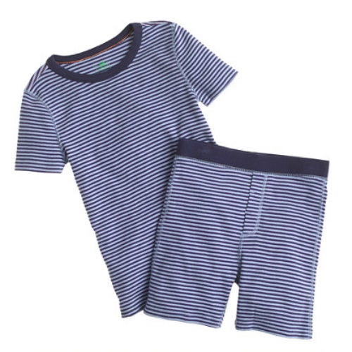 These  J.Crew BOYS' SHORT-SLEEVE SKINNY-STRIPE SHORT SLEEP SET  are soft & cozy, and are perfect for warm spring & summer nights with short sleeve top and bottoms.
