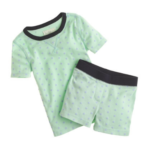 These  J.Crew GIRLS' GLOW-IN-THE-DARK SLEEP SET IN TINY STARS  have lots of little stars to light up the night! Yes, they actually glow in the dark- making these Pajamas the coolest!