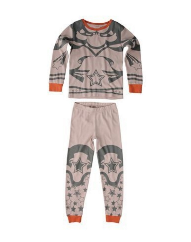 These  Stella McCartney ANDREA PYJAMAS are Butterfly Hero Pajamas in a soft and cozy organic cotton with a mystical Super Hero Print.Girls will love getting ready for bed in these Pretty Butterfly Hero Print two-piece Pajamas with fun pop color as trim.