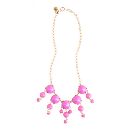 This  Crewcuts GIRLS' BUBBLE NECKLACE is J.Crew's iconic women's necklace, scaled down to kid-friendly proportions. I Love this Statement Making Necklace (I own 2 colors myself) and the fact that it now comes in Mini Me sizes! This is a fun opportunity to match your little one in a very cool and unexpected way!