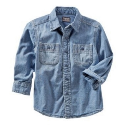 This  OshKosh B'Gosh CHAMBRAY BUTTON-FRONT SHIRT is an essential and is great for layering (though it is boys, I think it would be just as cute on a girl).