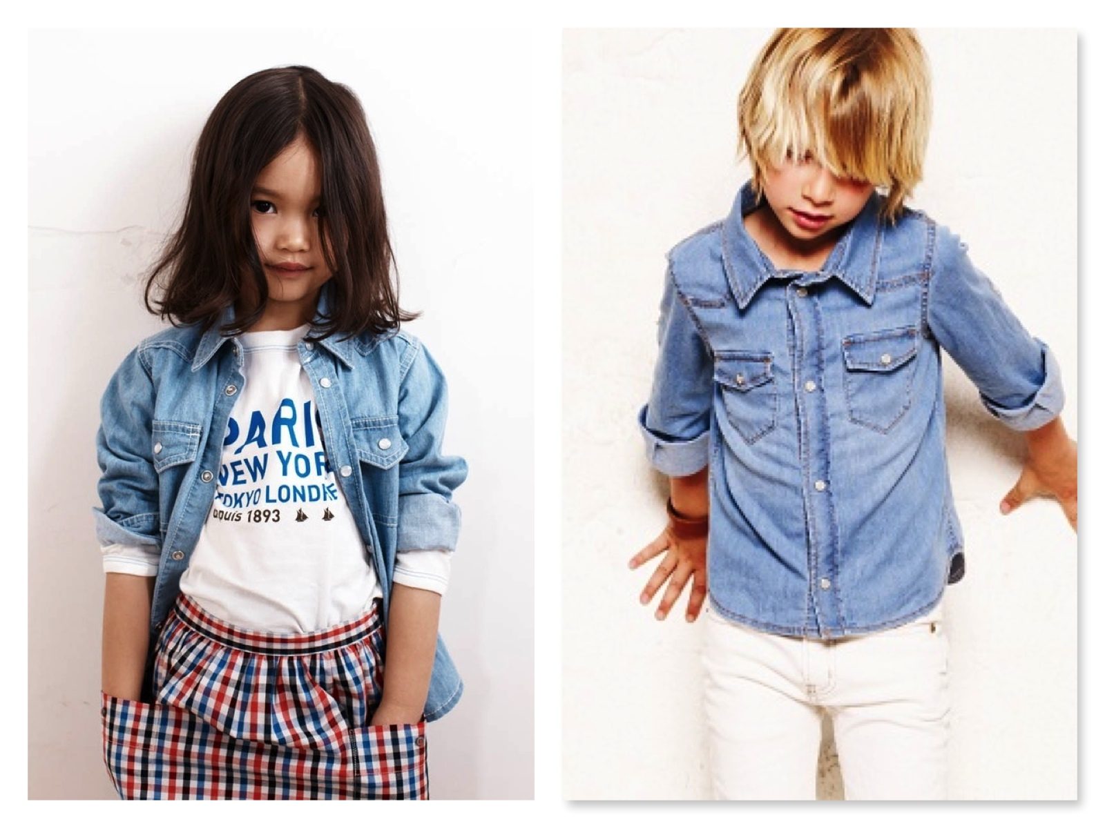 Denim Shirts are just as Cute on a Girl as on a Boy.