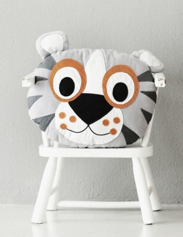 This  Ferm Living TIGER CUSHION is adorable.Is it a tiger or a cushion? Your little one will decide that.