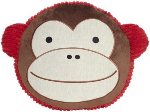 This  Skip Hop Zoo Throw Pillow Monkey  is a fun Zoo Pillow Pal that is made with super soft fabric that is perfect for snuggling.