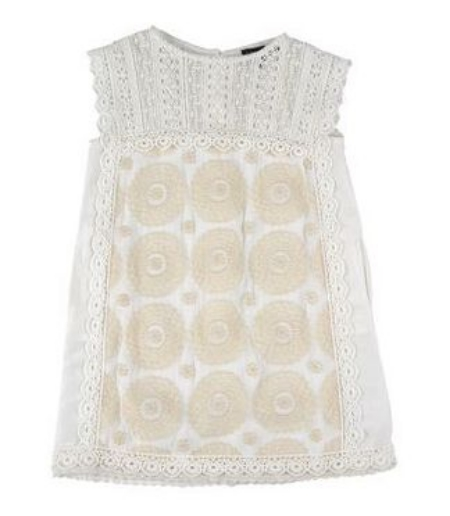 This  TWIN-SET Simona Barbieri Dress  has embroidery and two-tone Lace pattern. This is a stunning Lace Dress and will make your little one look and feel like the Princess she is!