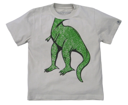 This  Dogwood T Rex Trompe L'oeil Tee  is 100% combed cotton for extra softness and has contrast stone stitching for extra style. Your little one will be RWARing in this T-Rex Graphic T-Shirt, and it is sure to be their favorite Tee.
