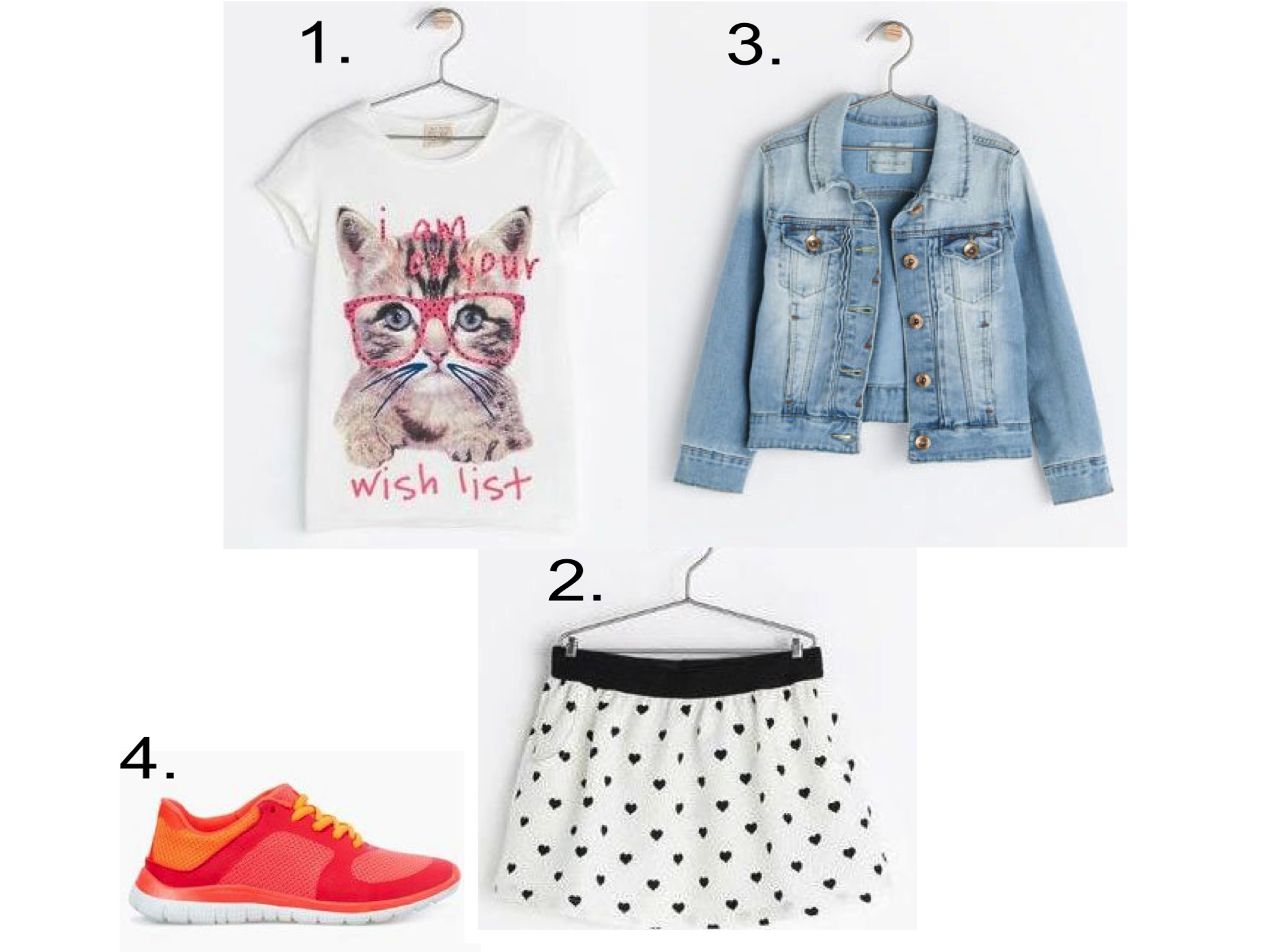 This Allover Heart Print Skirt Reminds me of the one  Taylor Tomasi Hill  wore during NYFW. I love it worn with an Oversize Animal Graphic Tee, Denim Jacket, and Comfy Sneakers.  1.  CAT PRINTED TOP  | 2.  HEART PRINT SKIRT  | 3.  DENIM JACKET  | 4.  PERFORATED SNEAKER